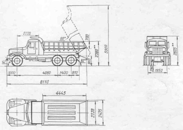 Грузовик КрАЗ 256 - полная