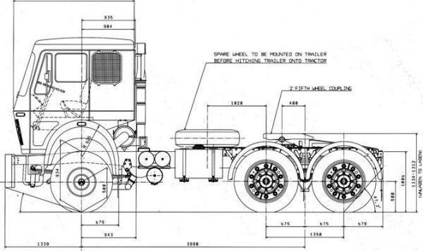 Автомобиль ТАТА LPS 4923  Техническая характеристика, габаритные размеры