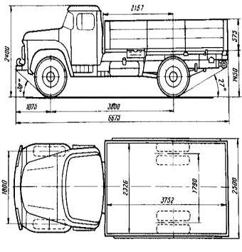 Автомобиль ЗиЛ ММЗ 554М  Техническая характеристика, габаритные размеры
