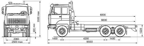 Автомобиль МАЗ 631705-241,243  Техническая характеристика, габаритные размеры