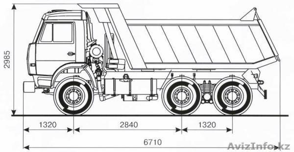 Автомобиль КАМАЗ 65115-026  Техническая характеристика, габаритные размеры