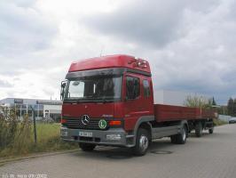 Автомобиль Mercedes-Benz Atego 1317 L 4760 pnevmo Колесная формула 4x2 Техническая характеристика