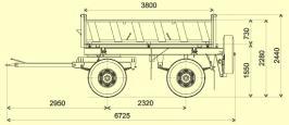 Прицеп САТ 24Д. Техническая характеристика