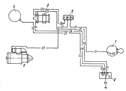 Схема системы зажигания. 1 .
