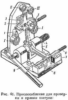 Ремонт деталей кривошипно-шатунного и газораспределительного механизмов.