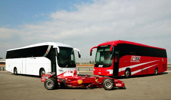 Новый дом на колесах Iveco Irisbus для скудерии Ferrari