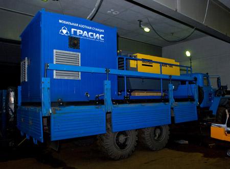 «Дочка» «Газпрома» получила мобильные азотные станции на базе автомобилей «Урал»