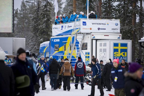 Автомобиль Scania для национальной сборной Швеции