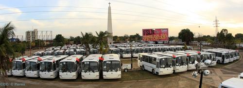 Президенту Никарагуа торжественно вручили 130 автобусов «Группы ГАЗ»