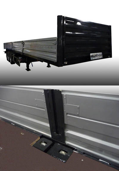 МЗ «Тонар» изготовил полуприцеп бортовой с фитингами для перевозки контейнеров.