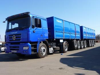 МЗ «Тонар» приступил к выпуску самосвального автопоезда для перевозки сельскохозяйственных культур