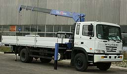 Первый кран-манипулятор Tadano установлен на шасси Hyundai-170