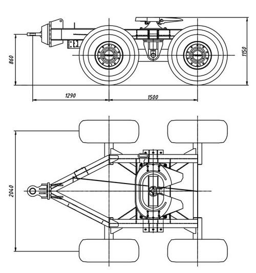 Тонар: разработана и произведена подкатная тележка тракторная (ПТТ)