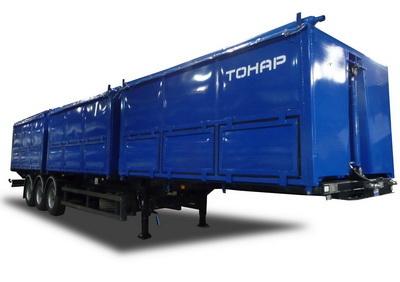 Новинка от ТОНАР: трёхсекционный самосвальный полуприцеп для перевозки зерна