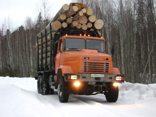 Лесовозная  техника КрАЗ популярна  у лесопромышленников России