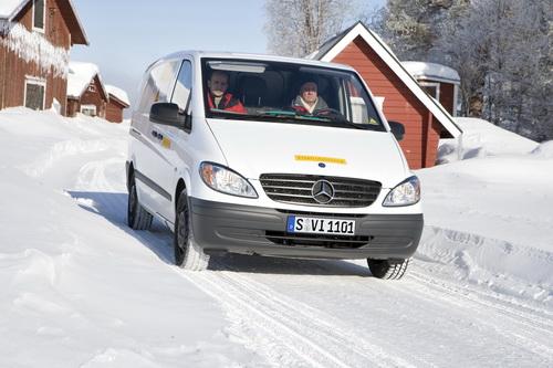 Горячее сердце в зимнюю стужу: аккумуляторный электромобиль Mercedes-Benz Vito выдержал испытание 30-градусным морозом