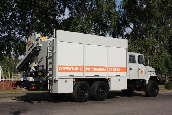 «АвтоКрАЗ» изготовил спецавтомобиль для МЧС Украины