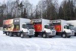 Автомобили Scania для ресторанов Macdonalds