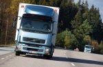 Volvo Trucks испытывает грузовые автомобили с двигателями, работающими на м ...