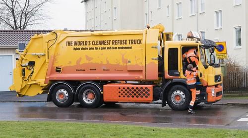 Гибридный мусоровоз Volvo FE Hybrid