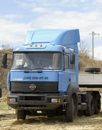 Новый седельный тягач Урал-6470 имеет двигатель ЯМЗ-650