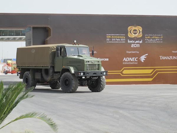 КрАЗ-5233ВЕ «Спецназ» отстаивал честь Украины на IDEX-2011
