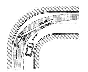 Прохождение поворотов на автопоездах и автобусах