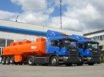 Новые бензовозы Scania едут в Новосибирск