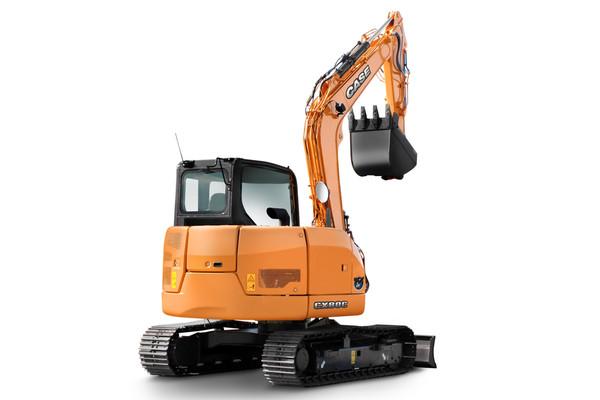 Case представил новые гученичные экскаваторы CX75C SR и CX80C