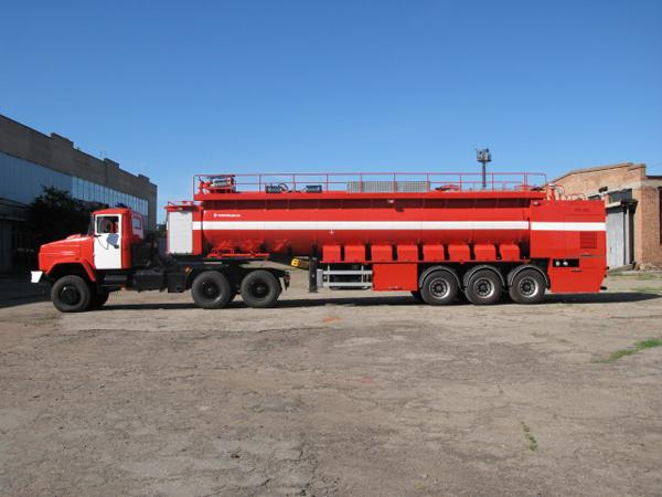 Для пожарных Казахстана создан новый специальный автопоезд  КрАЗ-6443 (АЦ-30-70-2)