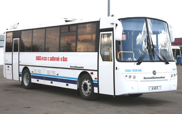 Перспективные газовые автобусы стандарта  Евро-5 на выставке GasSUF-2013