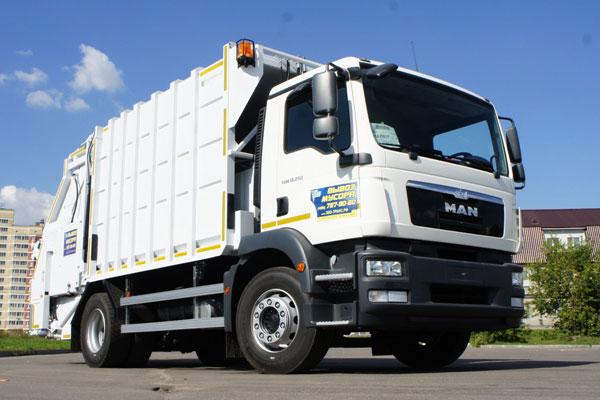 Новые экономичные мусоровозы на шасси MAN