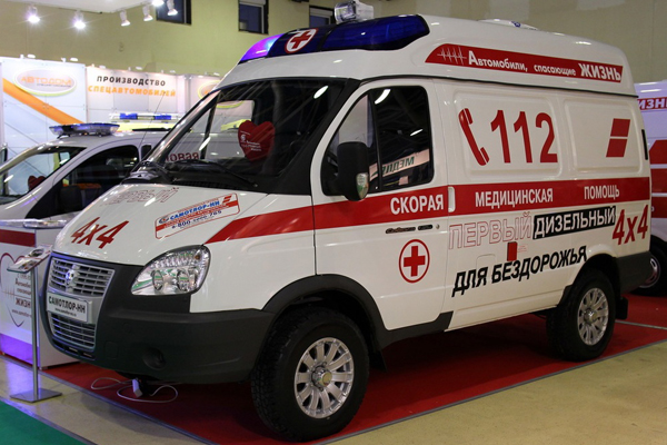 Полноприводная скорая помощь  на базе ГАЗ Соболь Бизнес