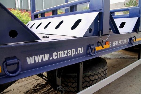 Новый прицеп ЧМЗАП для перевозки металла