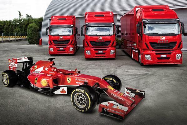 Три тягача Iveco Stralis Hi-way для гоночной команды Скудерия Феррари