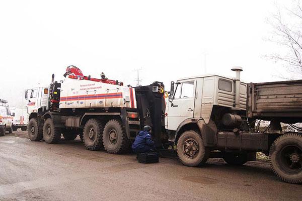 Эвакуаторы с частичной погрузкой приняли участие в учениях в Ростовской области