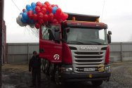 Компания Scania провела презентацию нового самосвала