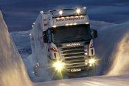 Запуск двигателя грузовика в мороз