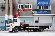 Надёжный кран Amco Veba 115 3s на базе Hino-500