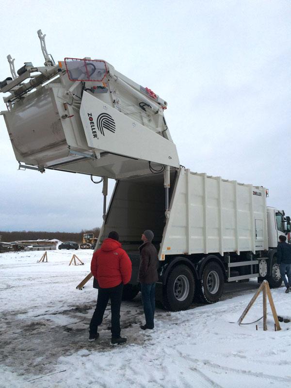 Трехосный мусоровоз на базе шасси Scania P 360 CB 6x4 HSZ
