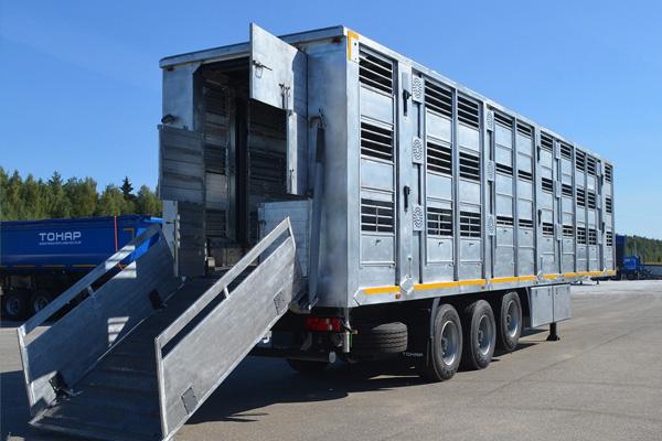 Обновленный прицеп скотовоз ТОНАР 9826