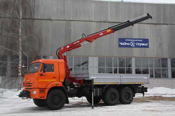 КАМАЗ-43118 с КМУ Amco Veba 120 2s и фронтальной лебёдкой
