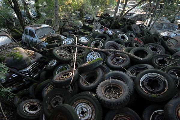 Не знаете куда деть утильные шины? Дальнобой решит этот вопрос
