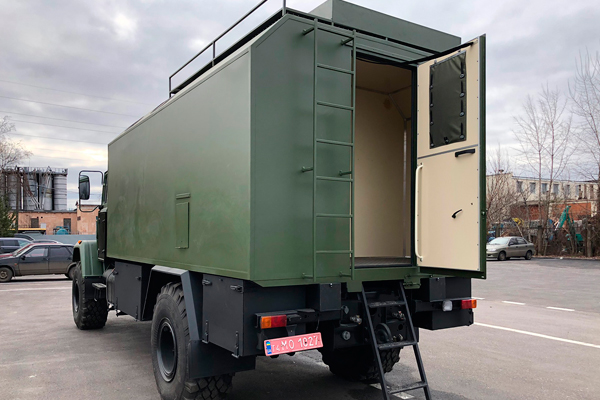 Бронированный кузов-фургон на полноприводном шасси КрАЗ-5233НЕ