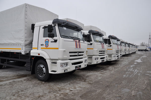 МЧС России пополнило свой автопарк новыми КамАЗ 65117