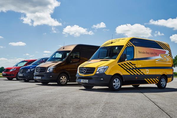 Высочайший уровень безопасности Mercedes-Benz Vans