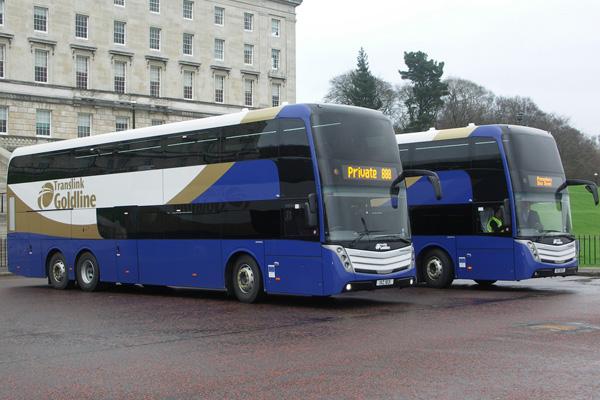 Новый двухэтажный автобус с системой кондиционирования DENSO