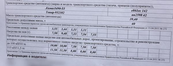 Полуприцеп Тонар-952302 не нарушающий весовых ограничений