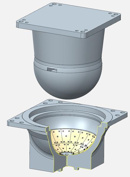 Cферический подшипник диаметром 1,25м