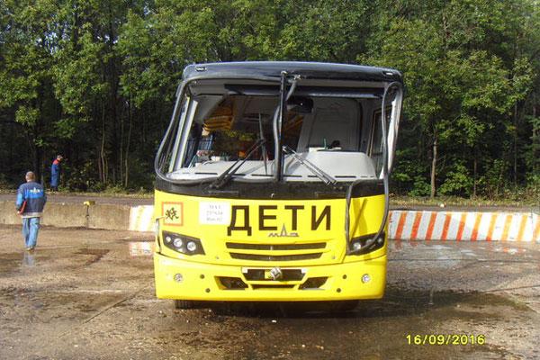 Краш-тест школьного автобуса МАЗ-257